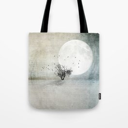 Only the Moon Knows Tote Bag