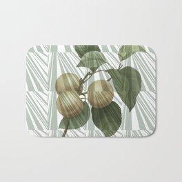 Geometrical vintage apricots collage Bath Mat