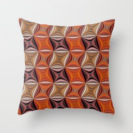 Rusty Waves Throw Pillow
