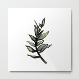 Sprig of Leaves - Katrina Niswander Metal Print