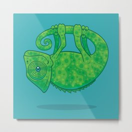 Magical Chameleon Metal Print