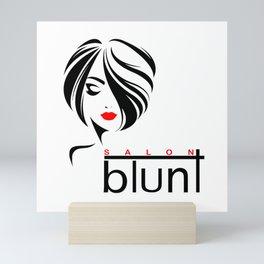 Salon Blunt - Custom work Mini Art Print
