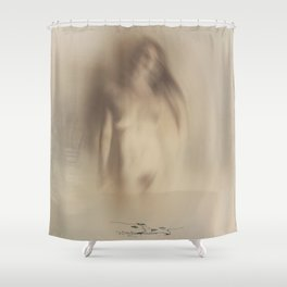 """Crashing Forwards"" Shower Curtain"