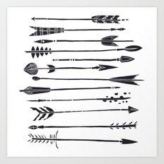 Narrow Boho Arrows Art Print