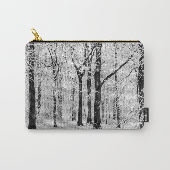 Snowy Beech Trees Carry-All Pouch