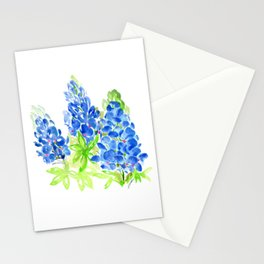 Bluebonnets//Lupines Watercolor Stationery Cards