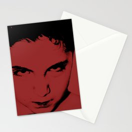 Red and the look in your eyes Stationery Cards