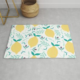Lemon & Blueberry Pastel Rug