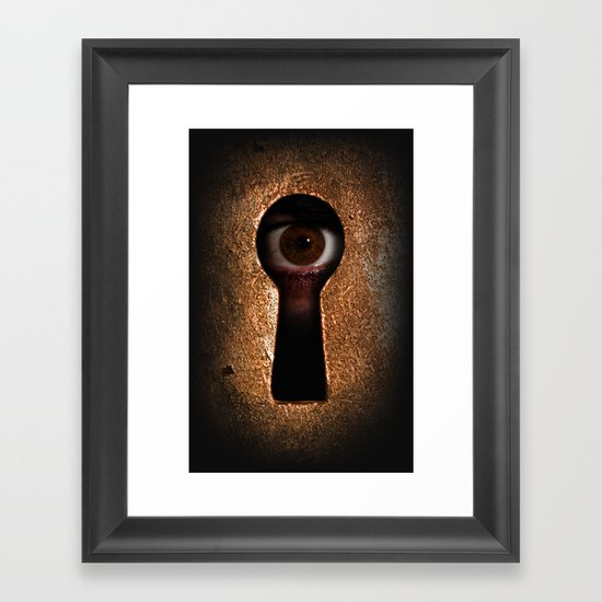 Who is watching you? Framed Art Print