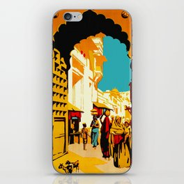 See India - Vintage Travel iPhone Skin