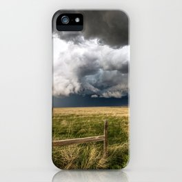 Aquamarine - Storm Over Colorado Plains iPhone Case