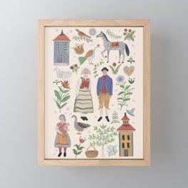 Swedish Folk Art Framed Mini Art Print