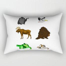 Cartoon Animals Rectangular Pillow