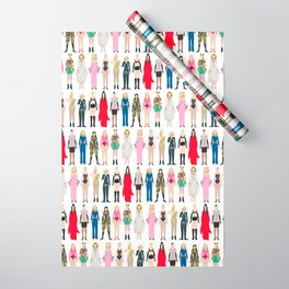 Outfits of Madge Fashion Wrapping Paper