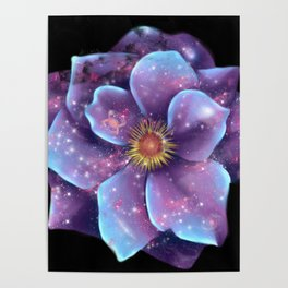 Galaxy in bloom Poster