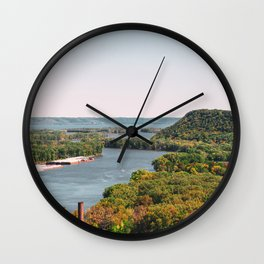 River Bluff Views and Fall Colors Wall Clock