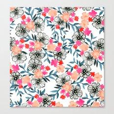 Tiny Floral Canvas Print
