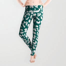 Leopard Quetzal Green Leggings