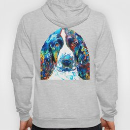 Colorful English Springer Spaniel Dog by Sharon Cummings Hoody