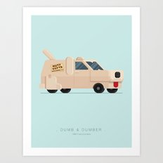 Dumb and Dumber  | Famous Cars Art Print