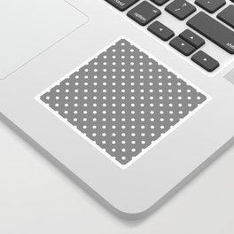 Grey & White Polka Dots Sticker