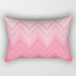 Fading Pink Chevron Rectangular Pillow