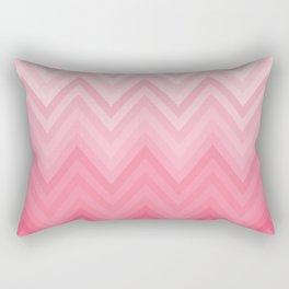 Fading Pink Chevron Rectangular Pillow