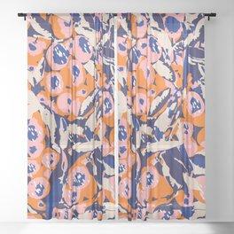Vanity #illustration #botanical Sheer Curtain