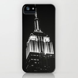 Dramatic Empire State Building in New York City at night iPhone Case