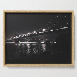 Manhattan Bridge in Dumbo, NY - Photography Serving Tray
