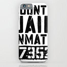 County Jail Inmate T-Shirt Prisoner Costume Shirt T-Shirt iPhone Case