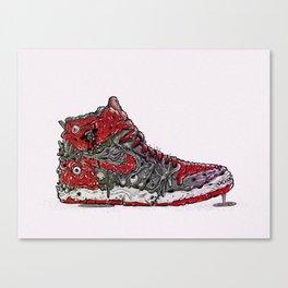 Infected Jordans Canvas Print