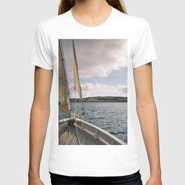Sailing across Cornish seas T-shirt