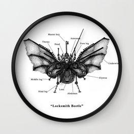 "Mechanical Mistake series "" Locksmith Beetle"" Wall Clock"
