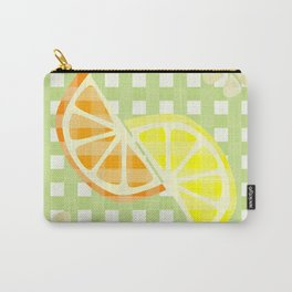 Citrus & Gingham - Lemon & Orange Carry-All Pouch