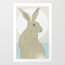 Golden Hare No.1 Art Print