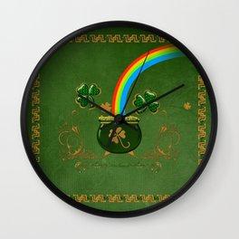 Happy st. patrick's day Wall Clock