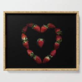 Heart of strawberries Serving Tray
