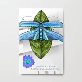 Dragonfly To The Clouds Metal Print