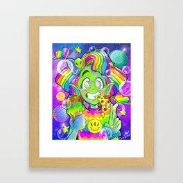 90s Alien Girl Framed Art Print