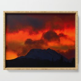 Fire Red Sunrise Serving Tray