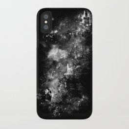 I'll wait for you black white version iPhone Case