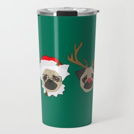 Christmas Pugs Travel Mug