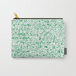 green abstract striped background Carry-All Pouch