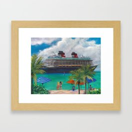 Ride to Paradise, Fantasy Framed Art Print