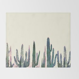 cactus water color Throw Blanket