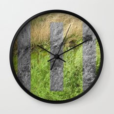 green space. Wall Clock