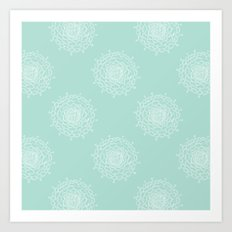 Seaglass Chrysanthemum Art Print