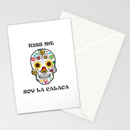 kiss me  soy la calaca mexican Stationery Cards
