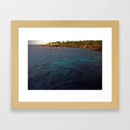 Negril Rain Fall Over Sea   2009 Framed Art Print